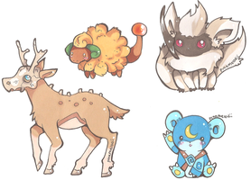 Pokemon Custom Hybrids by PinkMelodii