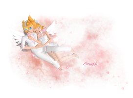 .:Angel:. Kagamine twins by Emy-san