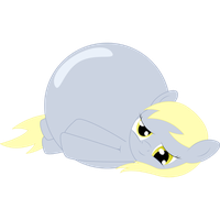 Inflated Derpy by RedshiftTheFox