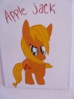 Applejack Canvas Painting by catz537