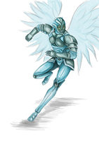 Terraria Doodle - Frost Armor by Balticdragon