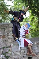 Blackmage and Whitemage FFXIV Cosplay by Evil-Siren