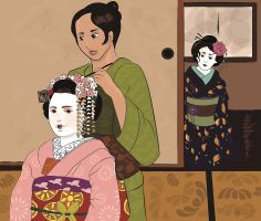 Preparing Maiko by AanZku