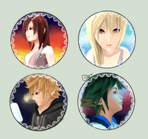 kingdomhearts (namine,kairi,sora and roxas) by Vollatina