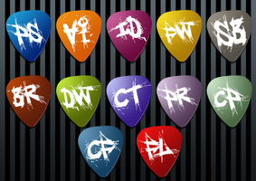 Adobe Guitar Pick Icons by AskingMyValentine