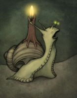 Singing snail by candlelight by CopperAge