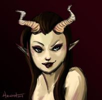 Red Succubus by Hawoot