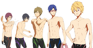 Free! - The Boys by ShadowCutie1