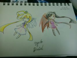 Angel + Devil (chibi) by candyhacker