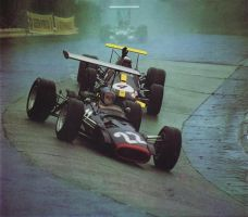 Piers Courage | Jack Brabham (Germany 1968) by F1-history