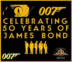 Celebreating 50 Years of James Bond Imgad by EspioArtwork31