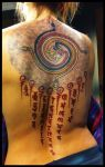 Gayatri mantra tattoo by Meatshop-Tattoo