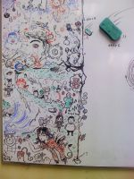 old whiteboard doodle by cocteautwins