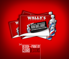 barbershop business cards by CloroDesign