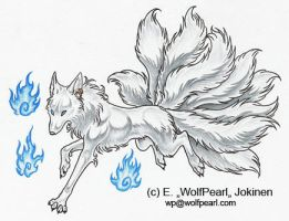 Silver kitsune by Paperiapina