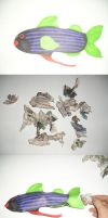 Make A Stuffed Paper Fish by gowsk