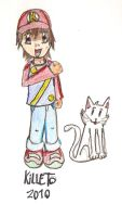 Killeto y su gato -my chrct- by animetomodachi