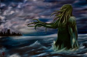 Cthulhu and the Rising Deep by IsrafelX