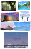 Background practice dump by GusDraws