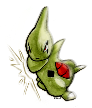 Larvitar uses Body Slam! by Saskle