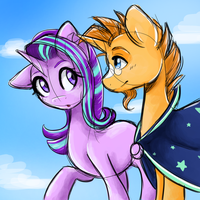 Starlight and Sunburst by chasinglights99