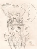 Hey Sora 8D - Sketch by Miss-Mae