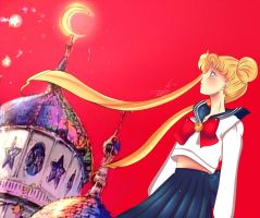 sailor moon  redraw by Invader-celes