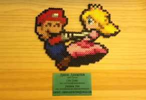Mario and Peach by AshersAbsolution