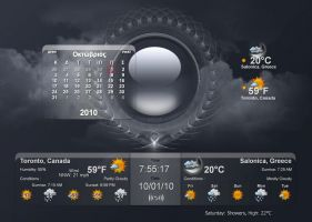 Double Weather with Calendar by adni18