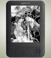 Kindle Screensavers by vamp-kiss