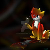 Flames (shine cat) by Delta-kitty