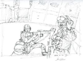 Soldiers in the cities -sketch by sakivibe