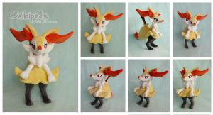 Braixen custom plush by Chibi-pets