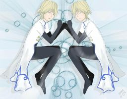 Twins Fai and Yui by MayMayleen