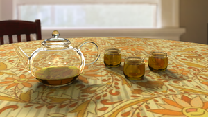 Glass Teapot by nomisunflower