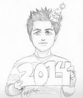 Billie Joe - Merry 2014! by kelly42fox