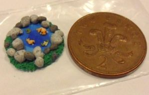 fimo fishies in a pond by Stefimoose