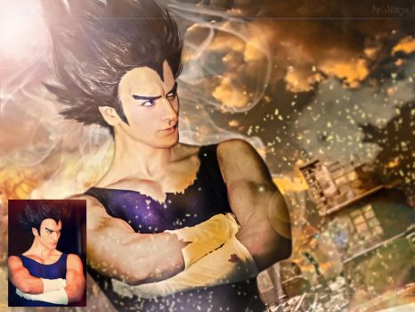 Vegeta - Before and After by ArtNinjaPH