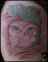 Little owl by DarkArtsColective