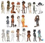 Active characters from roleplay by griffsnuff