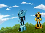 Blurr, Bee, meet Mother Earth by daughter-of-Myou