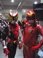 Kamen rider Kiva and Akared by nikocruz
