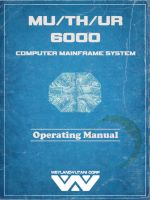 MU/TH/UR 6000 Operating Manual Mockup by dyveira