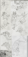 sketch dump time! by OddOsprey