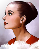 Audrey Hepburn Portrait by Bonnie-Wonder