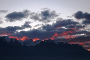 Mountains on fire by elodie50a