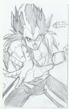 sketch Vegeta Ssj 4 de : Dragon ball GT by GACS-Draw