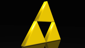 TRIFORCE! Legend of Zelda 3D Render by HomelessGoomba