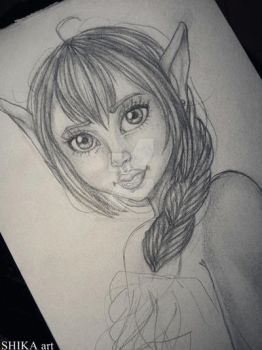 ELF W.I.P by husaria-chan