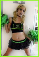 Halloween- zombie cheerleader by love-on-a-stick